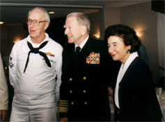 Don Fahlberg, Bud and Mouza Zumwalt at 1995 reunion