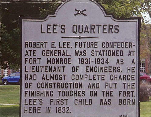 Lee's Quarters at Ft Monroe