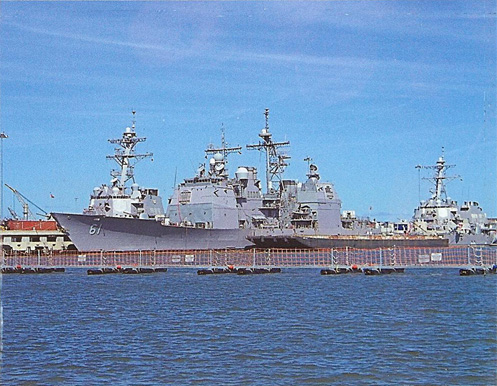 USS Monterey at Norfolk Naval Station